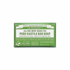 Dr. Bronners All - One Hemp Green Tea Pure - Castile Bar Soap 146g