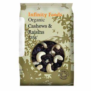 Infinity Foods Organic Cashews And Raisins