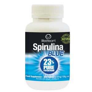 Lifestream Spirulina Blue 200 Natural Vanilla Coated Tablets
