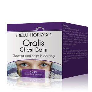 New Horizon Oralis Chest Balm 40mls