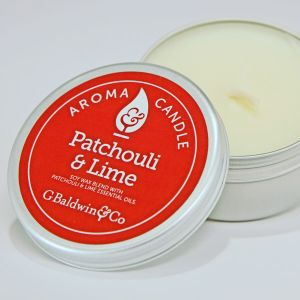 Baldwins Patchouli And Lime Aroma Candle 105g