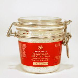 Pomegranate, Bilberry & Rose Bath Salt 310g