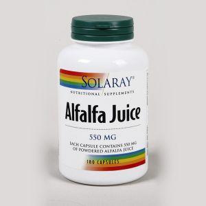 Solaray Alfalfa Juice 550mg 180 Capsules