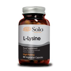 Solo L-lysine 500mg Plus Vitamin B6 60 Vegecaps