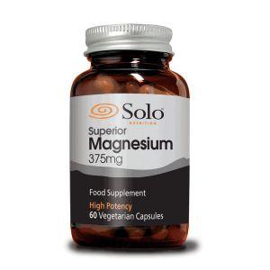 Solo Magnesium Citrate 375mg 60 Vegecaps
