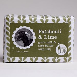 Laughing Bird Patchouli & Lime Soap (with Shea Butter & Goat's Milk) 150g