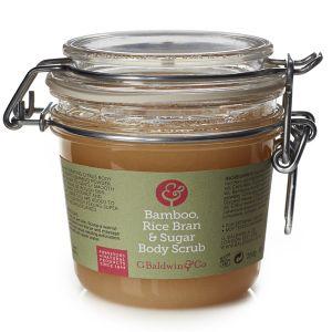 Baldwins Bamboo, Rice Bran & Sugar Body Scrub 250g