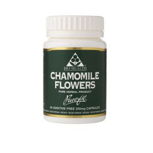 Bio-health Chamomile Flowers 250mg 60 Vegetarian Capsules
