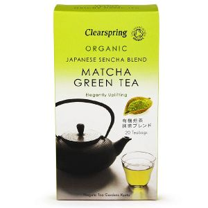 Clearspring Organic Matcha Green Tea - Japanese Sencha Blend 20 Teabags