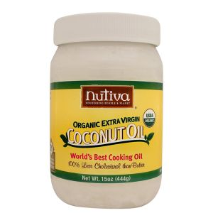Nutiva Raw Extra Virgin Organic Solid Coconut Oil 444ml