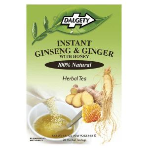 Dalgety Instant Ginseng & Ginger With Honey 20 Tea Bags