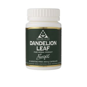 Bio-health Dandelion Leaf 300mg 60 Vegetarian Capsules