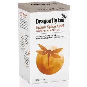 Dragonfly Tea Indian Spiced Chai Organic Black Tea 20 Sachets