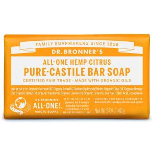 Dr Bronner Magic Soap Citrus Orange 140g Bar