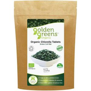 Golden Greens Organic Chlorella tablets 500mg 120 tablets