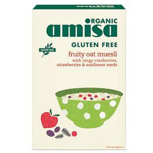 Amisa Organic Gluten Free Fruity Oat Muesli 325g