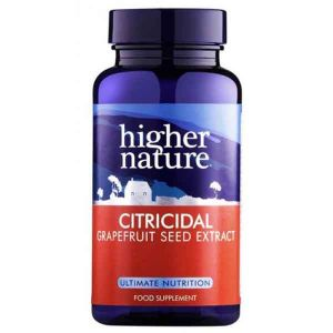 Higher Nature Citricidal Grapefruit Seed Extract 100mg 100 Tablets