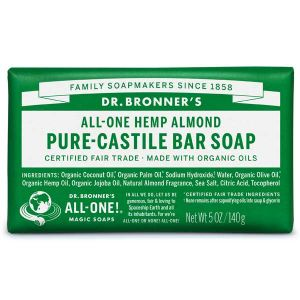 Dr Bronner Castille Soap Bar Hemp/almond 140g