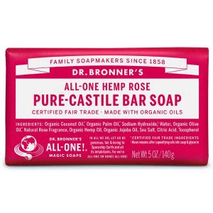 Dr Bronner Castille Soap Bar Rose 140g