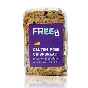 Free'd Gluten Free Crispbread - Crispy Crackers With Cheddar & Pumpkin Seed 160g