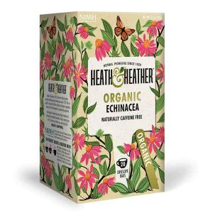 Heath And Heather Organic Echinacea Tea 20 Tea Bags