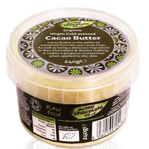 The Raw Chocolate Co Fairtrade Organic Virgin Cold Pressed Cacao Butter 240g