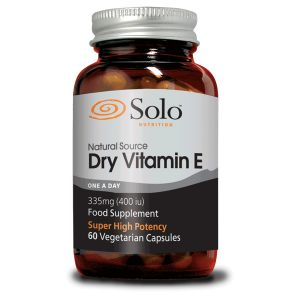 Solo Natural Source Dry Vitamin E (One A Day) 335mg (400iu) 60 Vegetarian Capsules