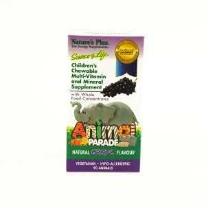 Natures Plus Animal Parade Grape Flavour 90 Chewables