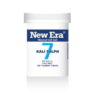 New Era Mineral Cell Salts No.7 Kali Sulph (potassium Sulphate) 240 'fastmelt' Tablets