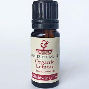 Baldwins Lemon Organic (citrus Limonum) Essential Oil