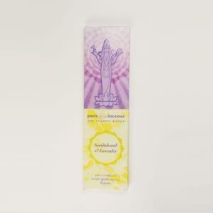 Pure Incense Sandalwood & Lavender (10 Grams)