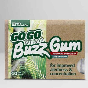 Rio Amazon GoGo Guarana Buzz Gum Fresh Mint