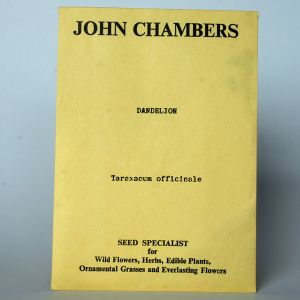 John Chambers Dandelion Herb Seeds Packet
