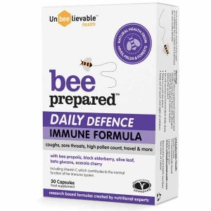 Unbeelievable Bee Prepared Daily Defence Immune Support 30 Capsules