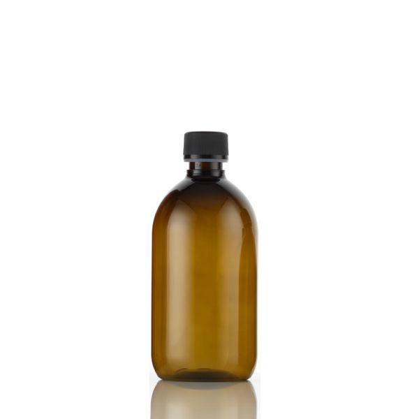 Plastic Amber (pet) Bottles 500ml