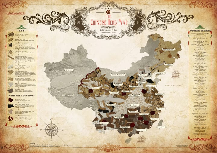 The Baldwins Chinese Herb Map ~ Download & Share