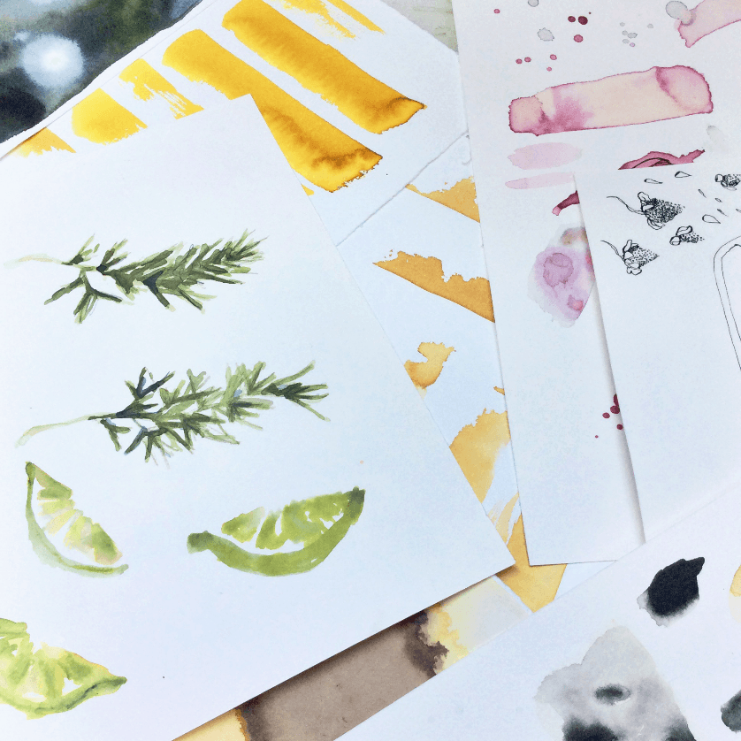 Behind the Scenes of Our Summer Coolers Illustrations