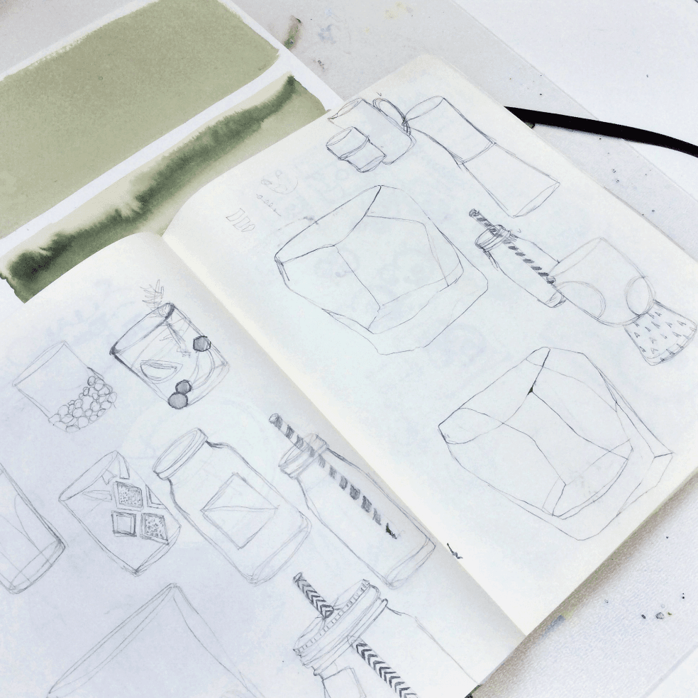 Behind the Scenes of Our Summer Coolers Illustrations - Sketchbook