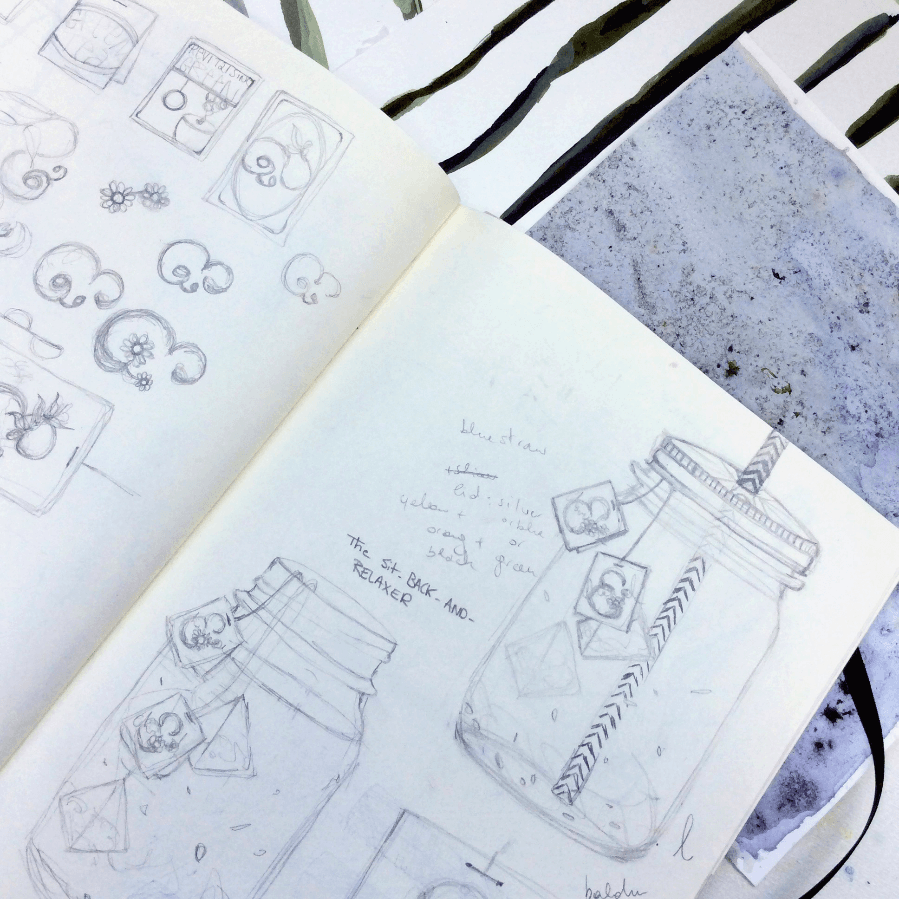 Behind the Scenes of Our Summer Coolers Illustrations - sketchbook_2