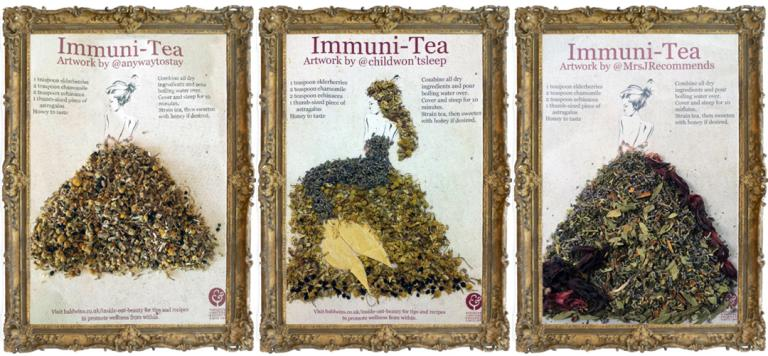 Our New Herbal Tea Themed Herb Art, Created By Bloggers!