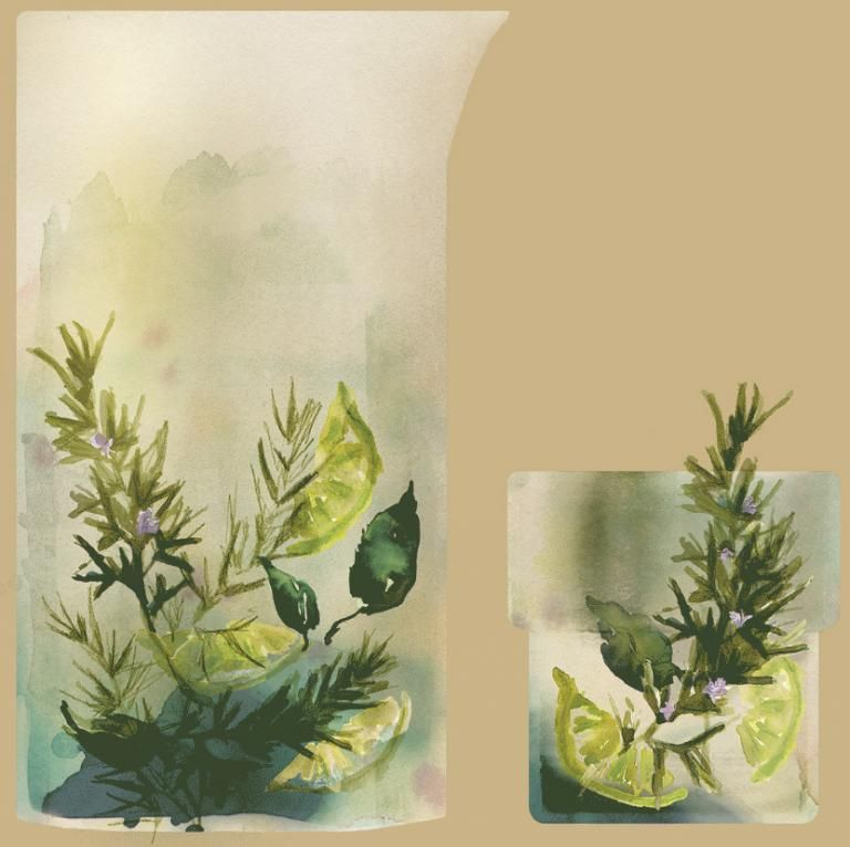 Summer Coolers – How to Paint with Herbs, Fruit and Vegetables at home