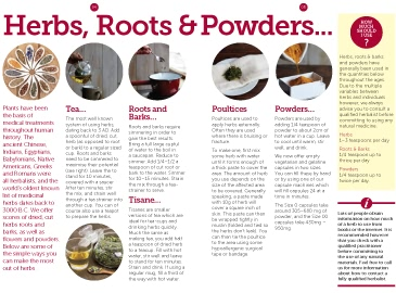 Using Herbs, Roots & Powders