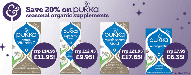 20% Off Pukka Organic Seasonal Supplements - Click Here