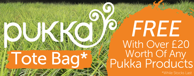 Pukka Herbs Tote Bag Offer - Free Tote Bage When You Spend £20 Or More On Any Pukka Products
