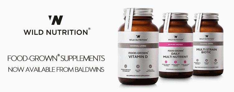 Wild Nutrition Food-Grown Supplements Now Available At Baldwins